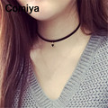 Black triangle small pendants statement choker necklaces for women collares collier perlas personality accessories gold plated