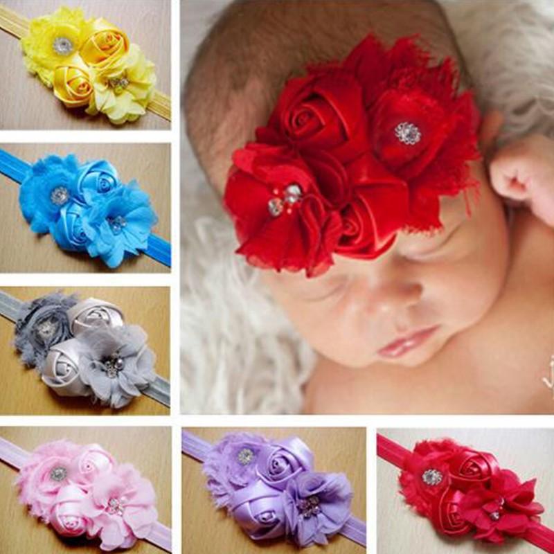 Детские повязки на голову с цветами головные уборы розой аксессуары