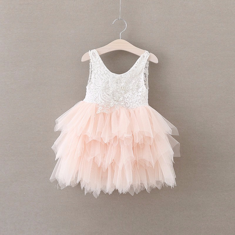 baby girl outfit summer girl lace dresses tulle tutu kids dresses for girls wedding pink ball gown princess dress 2-6y pink kids baby girls party dresses lace princess dress for baptism wedding children clothing girl tulle tutu dress 2 6 years
