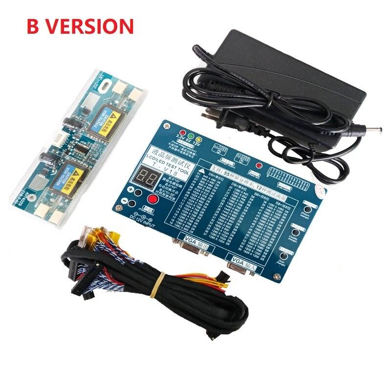 Outil de Test pour Panneau LED LCD Écran Testeur Soutien 7-84 Pouces + Tension Transformateur Conseil + 6 PCS LVDS câble + 12 V alimentation