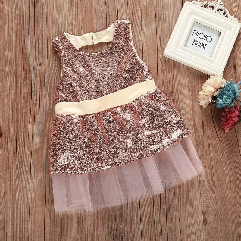 1 2 3 4 Year Baby Children Princess Dress 2018 New Summer Girls Party Wedding Clothes Sleeveless Bow Kids Dresses for Girls 8