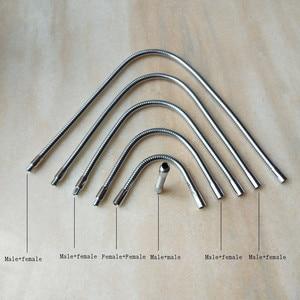 Image 2 - Лидер продаж, Светодиодная гибкая лампа M10 с гусиной шеей, для мужчин и женщин, хромированный металлический шланг, Универсальная мягкая трубка, металлические трубки под змеиную кожу, сделай сам