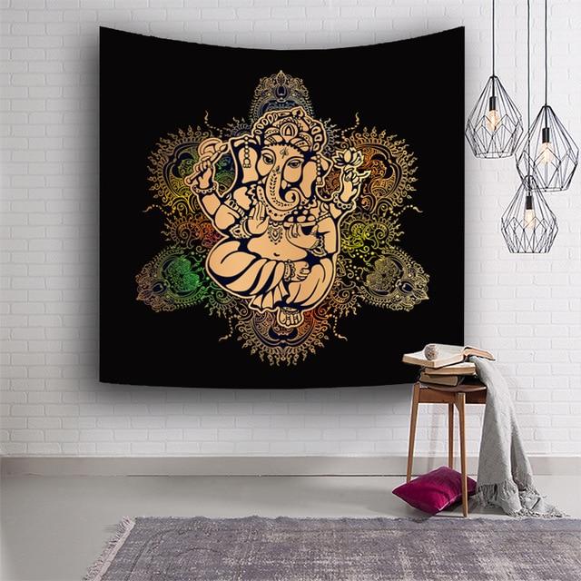 Dioses Indios Bohemia Tapices Elefante Colgante Mandala Mantas - Mandalas-indios