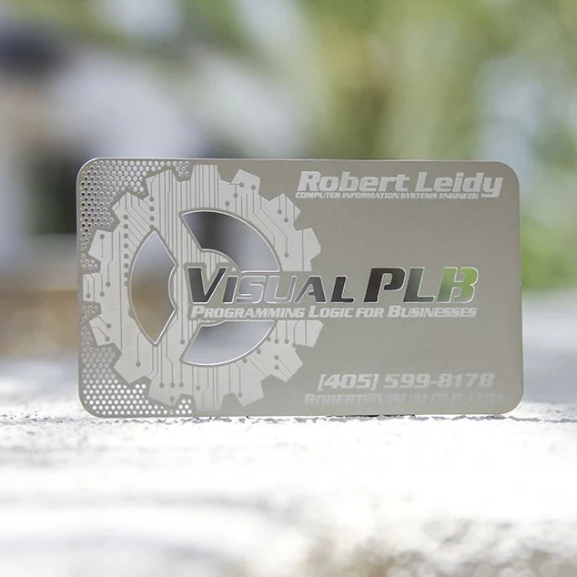Creative Design Custom Stainless Steel Laser Cut Metal Card Metal Business Card