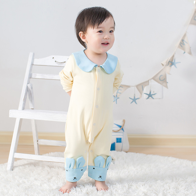Baby boy girl rompers sweet cotton baby girls jumpsuit long sleeve cartoon character baby girls pajamas boutique baby clothes 100%cotton 3pcs lot baby rompers winter long sleeve baby boys clothing solid color o neck jumpsuit baby girls pajamas clothes