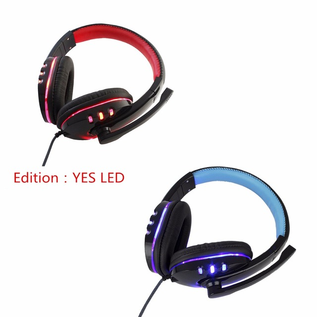 Deep Bass Computer Gaming Headset with Mic