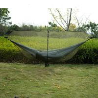 Detachable Hammock Mosquito Net Portable Outdoor Survival Nylon Encryption Mesh Double Person Camping Light Weight Hammock