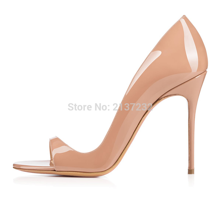 2016 New Fashion Customize slip on women s shoes high heel peep toe Summer mujer sandalia