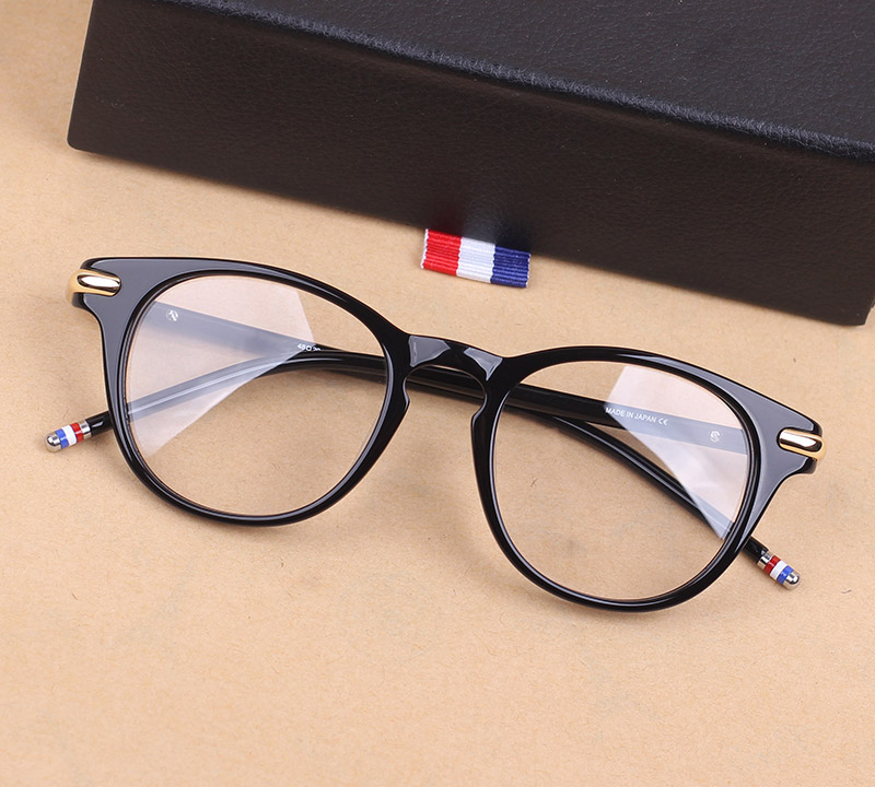 THOM TB813 Retro Vintage Round Optical Glasses Frame Computer Eyeglasses Men Women Oculos De Grau Myopia Prescription Eyewear