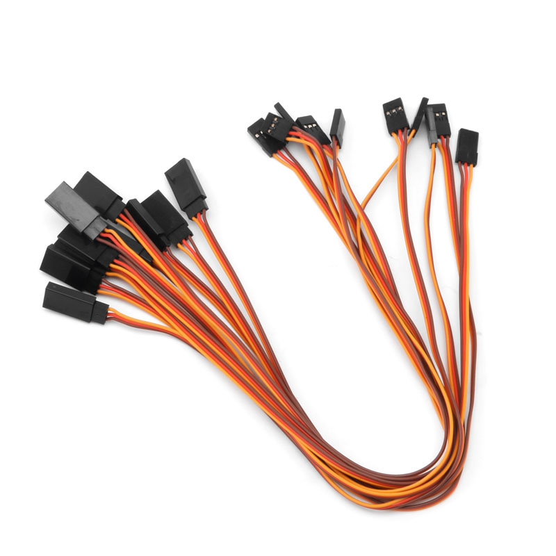2018 10Pcs 150/200/300/500mm Servo Extension Lead Wire Cable For RC Futaba JR Male To Female 30cm  JUL27_32