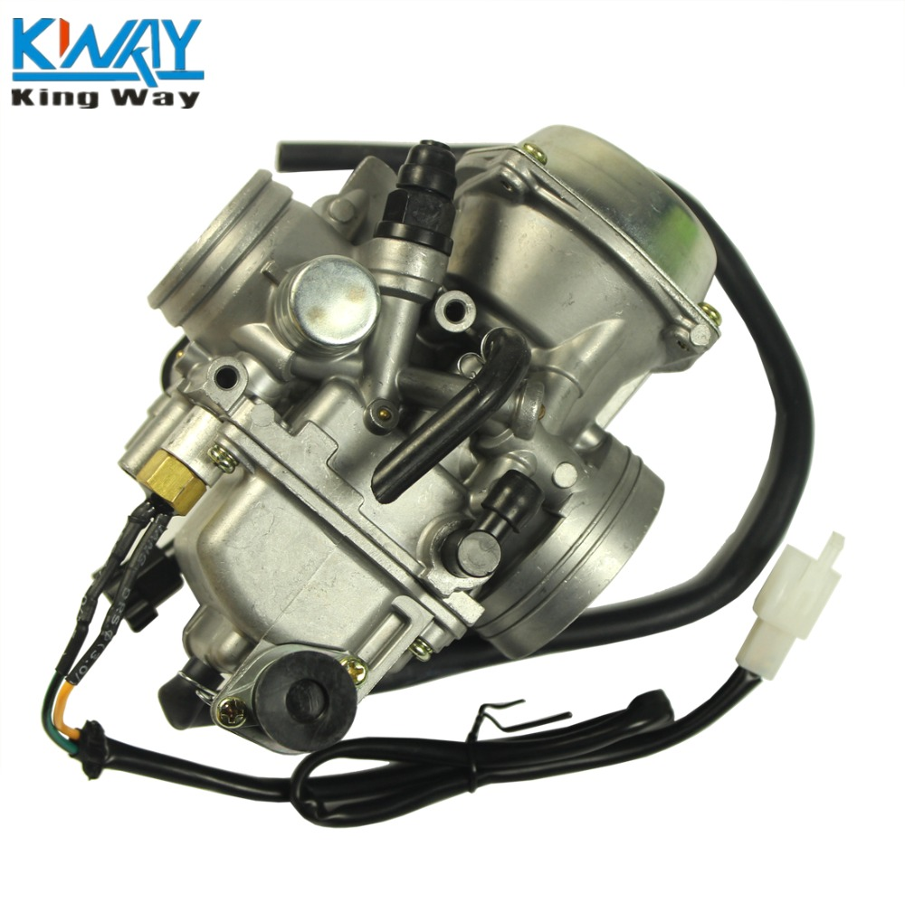 FREE SHIPPING - King Way - Carburetor With Throttle Cable For Kawasaki ATV KLF300 Bayou 300 Carb 1995-1986
