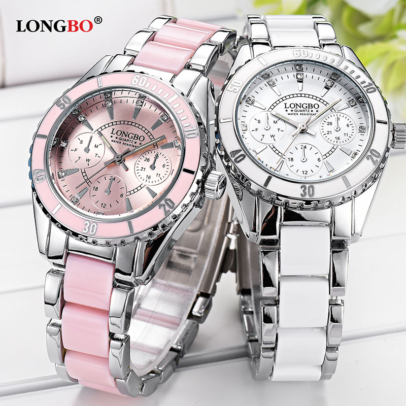 LONGBO New Quartz Watch Women Watches Ladies Luxury Brand Famous Wristwatch For Women Female Clock Relogio Feminino Montre Femme new pinbo famous brand lamei flowers casual quartz watch women silicone jelly watches ladies clock relogio feminino hot sale