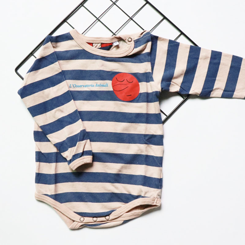 BBK discount! spring bobo&TAO Baby Bodysuit Newborn Stripes&Stellar cotton Body Suit Fashion Girls&Boys long Sleeve kids Jumpers