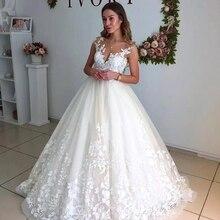 Свадебные платья для беременных, элегантное кружевное Прозрачное платье с вырезом на шее, рукав-крылышко, платье для беременных с открытой спиной размера плюс, Свадебное бальное платье по индивидуальному заказу