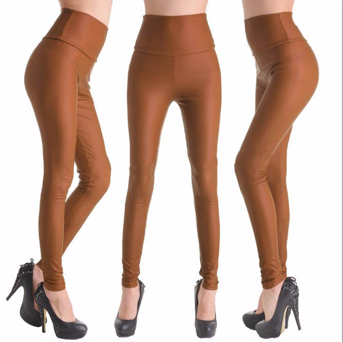 2017 New Women Sexy Leggings Faux Leather Stretch Legging High Waist Leggings Juniors Pants 4 size 21 Colors 16