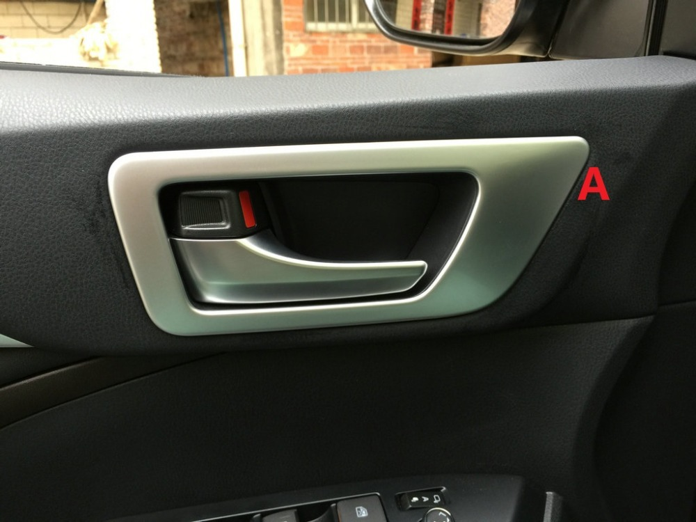 auto interior accessories car inner door handle trim sticker for toyota highlander 2015 abs. Black Bedroom Furniture Sets. Home Design Ideas