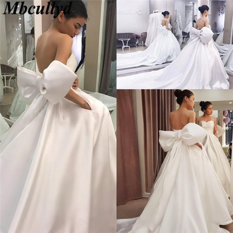 2019 Satin Wedding Dresses: Mbcullyd Gorgeous Sweetheart Wedding Dress For Women 2019