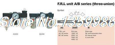 1pcs AirTAC Type 1/4 BSPT Air Pressure Filter Regulator Lubricator 750 L/min pressure regulator combination or mini type 1 4 port size regulator