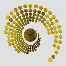 Quartz Sale Home Decor Water Needle Modern Acrylic Mirror Wall Clock Stickers Wallpaper DIY Clocks