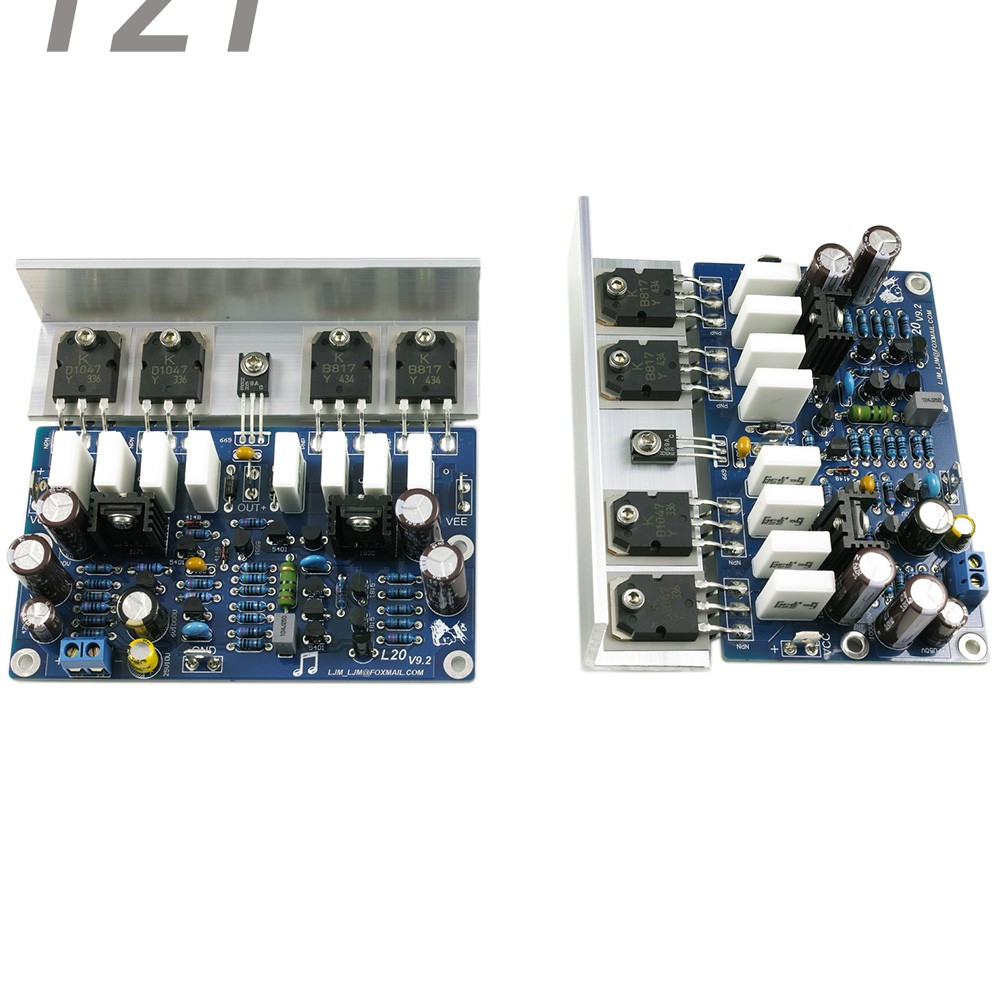 цена на LJM-Audio Hi-end L20 200W 8R V9.2 Audio Stero Power Amplifier Board with Angle aluminum (Assembled Amp board,include 2 bobards)