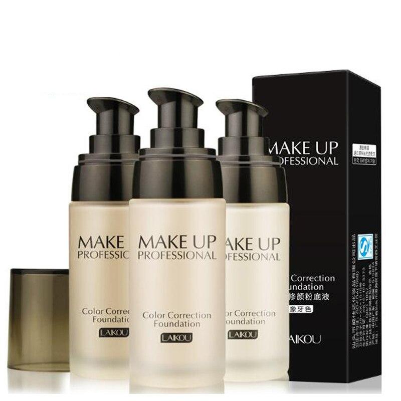 Long Lasting Moisturizing Oil-control Concealer Whitening Base Liquid BB Cream Face Foundation Makeup 3 color brand Nude Makeup