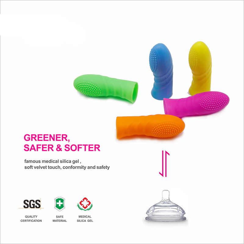 5 sztuk/zestaw flirt G Spot Vagina biustonosz masażu produkty erotyczne Sex zabawki dla kobiety miękkie wypukłe kropki stymulator łechtaczki nakładki na palce