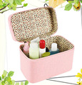MH009 Women's Cosmetic Cases 21.5*12.5*15.5cm Retro stone grain cosmetic bag crocodile pattern hand new beauty case