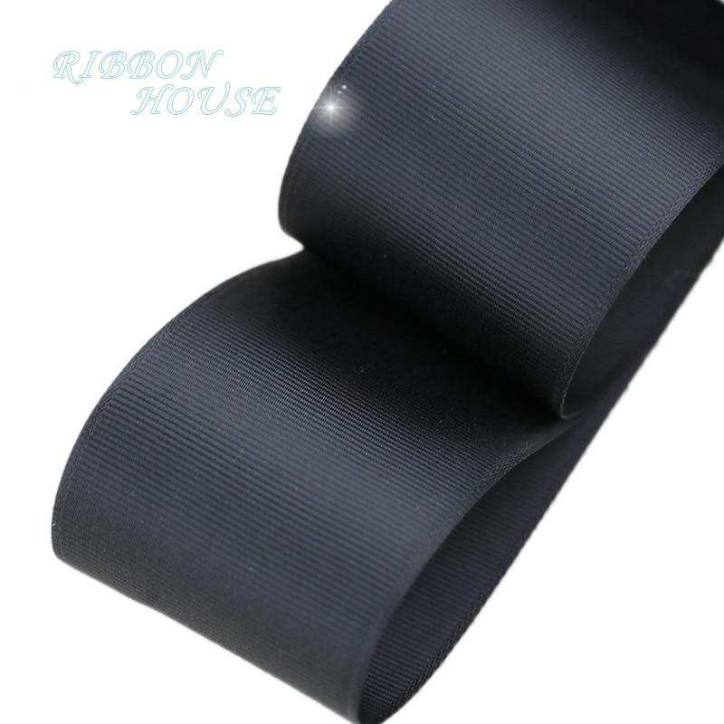 (5 м/лот) 2 «(50 мм) черный корсажная лента подарочная упаковка оптом Рождество украшение ленты
