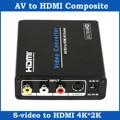 Composite AV RCA S-Video to HDMI Converter UHD 4K Upscaler Adapter for HDTV
