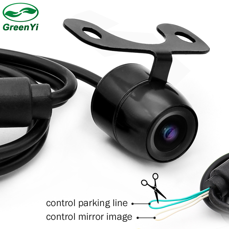 GreenYi Waterproof CCD Car Vehicle Rearview Front Side View Backup Reversing Camera with or without Mirror Image Convert Line