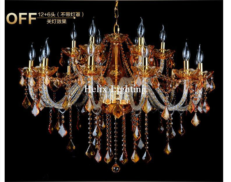 Free shipping Art deco Chandelier Mixed color Amber and Clear Living Room Candle Lamps luxury Crystal Chandelier No Shades rakesh kumar tiwari and rajendra prasad ojha conformation and stability of mixed dna triplex