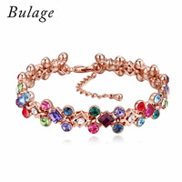 Baffin Luxury Crystal From Austrian Bracelets Rose Gold Color Pulseras For Women Wedding Party Accessories Christmas