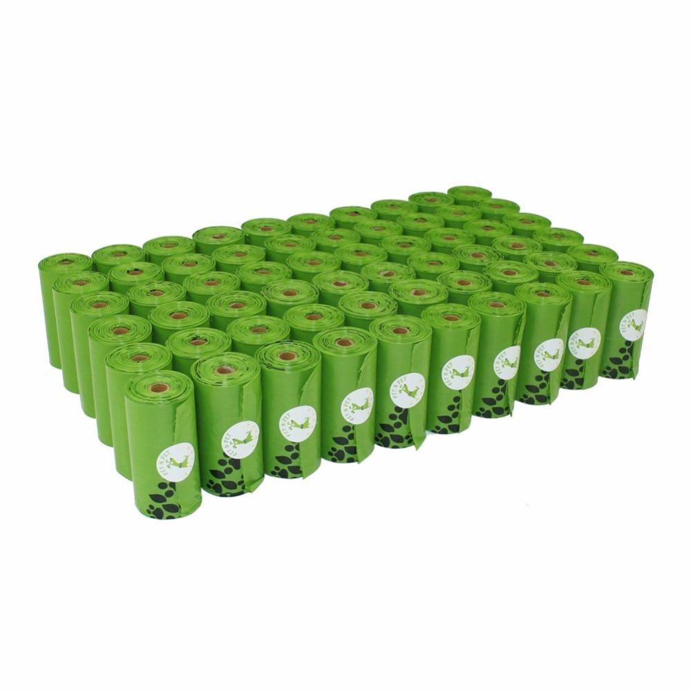Bolsas de caca de perro ecológico 1080 cuentas 60 Rolls Large oxo-biodegradables bolsas de residuos perro perrito verde color Naranja negro