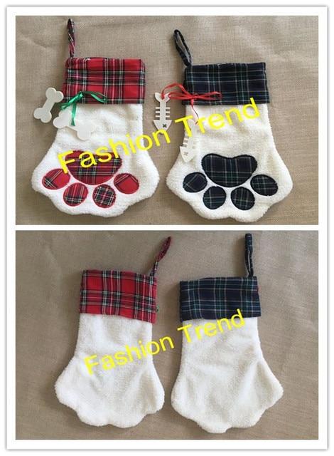 100pcslot free shipping personalized sherpa dog cat paw christmas stocking x mas gift - Dog Stockings For Christmas