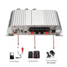 Nouvelle Arrivée Vente Chaude Mini Auto Moto Accueil Salut-fi Stéréo Amplificateur Amp Pour mp3 Pour iPod PC DVD CD 12 V