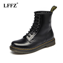 2019 (High) 저 (quality 분할 가죽 Men Boots Dr Boots 화 (High) 저 (Top 오토바이 Autumn Winter shoes man 눈 Boots ST50(China)