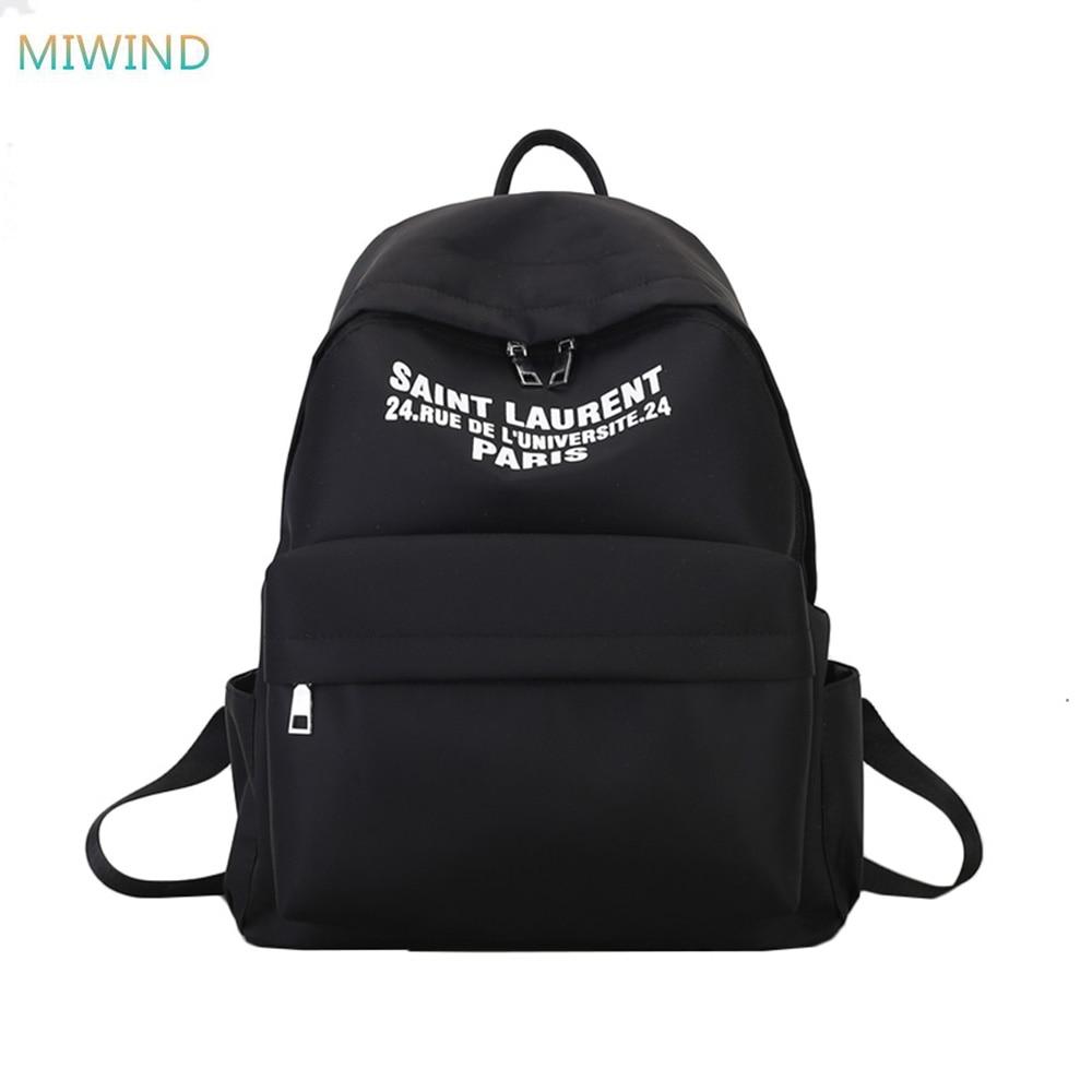 MIWIND Men Women Backpack School Bag for Teenagers College Waterproof Canvas Travel Large capacity Bag Laptop Backpacks XM077