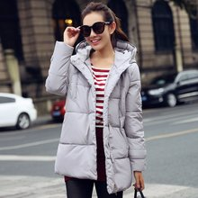Women Winter Long Parkas Female Coat Thickening Cotton White Jacket Womens Outwear Parkas Outwear