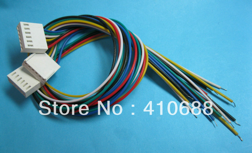100 pcs 2510 Pitch 2.54mm 4 Pin Female Connector with 26AWG 300mm Leads Cable