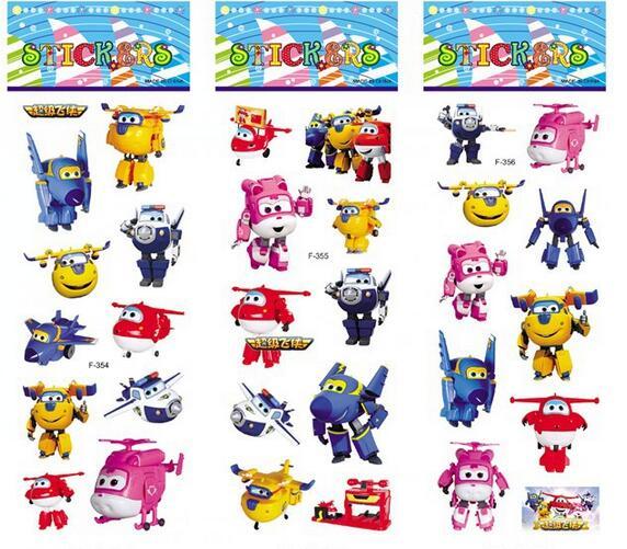 10 stks/partij Super Vleugels stickers voor kinderen interieur op ...