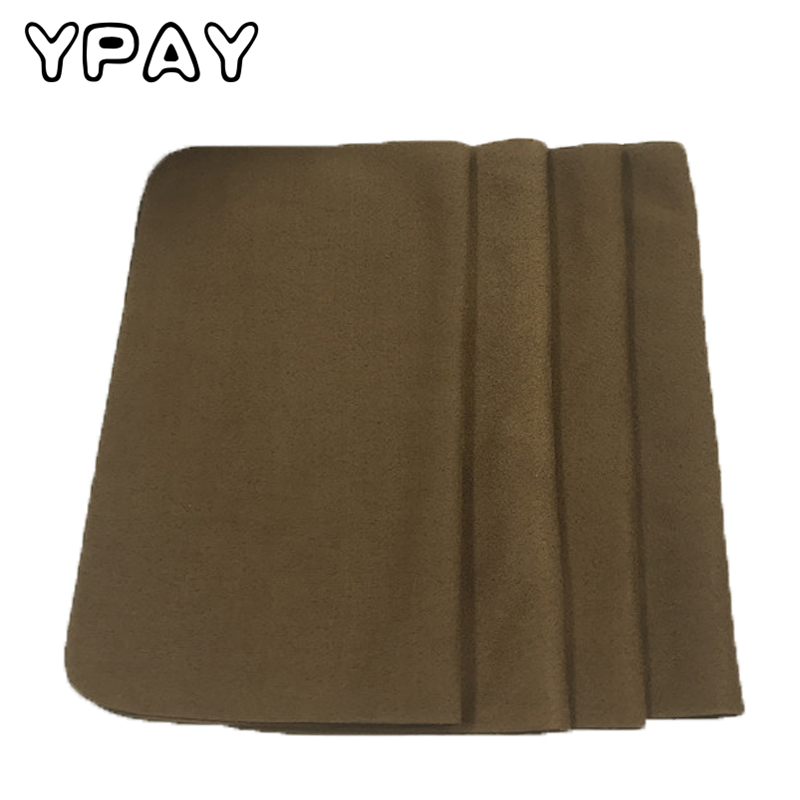 YPAY High-grade Microfiber Suede Khaki Glasses Cloth Mobile Computer Screen Cleaning Cloth 20/piece