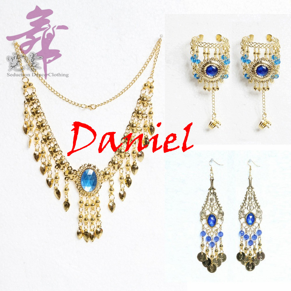 wholesale 5 piece set belly dance bollywood necklace