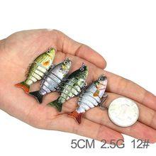 Sahte Yemler 1PCS 5CM 2.5G Mini Fishing Lure Swimbait Grankbait Hard Bait Multi Jointed Fake articulos De Pesca