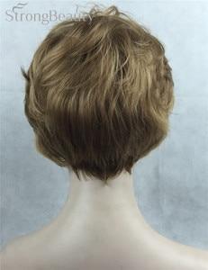 Image 4 - Güçlü Güzellik Sentetik Peruk Kadın Kısa Düz Peruk Kesim Saç Kadın Saç Seçmek Için Birçok Renk