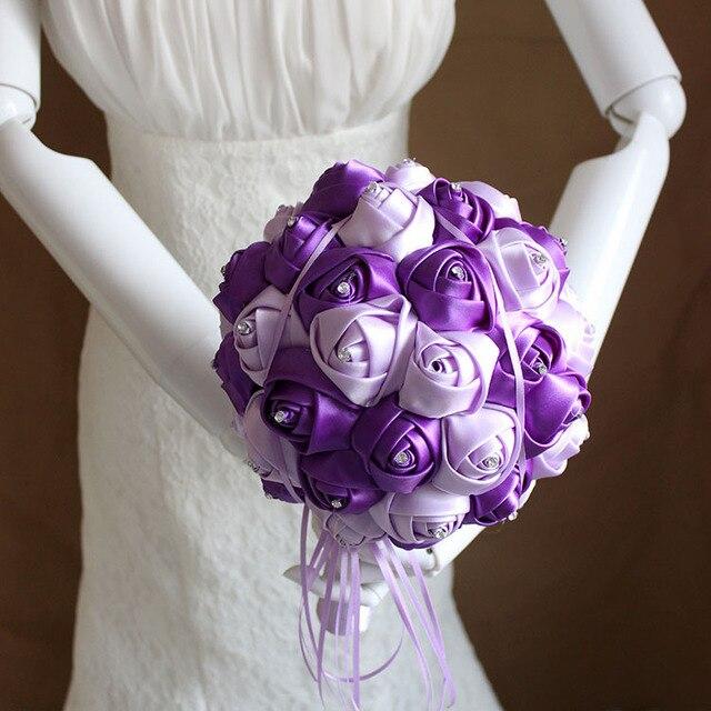 2016 люкс для невесты свадебный букет дешевые новый романтический красный ручной искусственные роуз свадебные цветы свадебные букеты XF05-2
