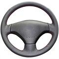 Couro Artificial preto Tampa Da Roda de Direcção Do Carro para Peugeot 206 2007-2009 Peugeot 207 Citroen C2
