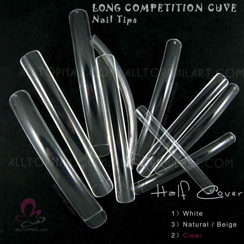 French Extreme Long Curve Nail Tips Professional 200x Clear Long ...