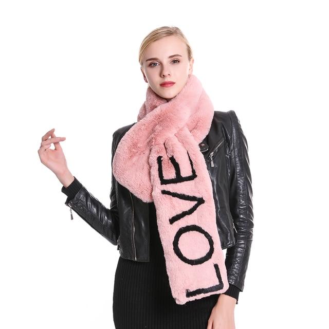 Winter #Fashion Soft Black Pink Faux Fur Collar #Scarf Love Letter Scarves Women#boygrl
