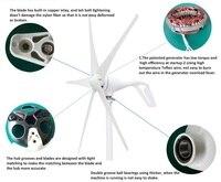 400w wind generator 12v 24v wind turbine with 3 blades or 5 blades for streetlight garden lighting for home use