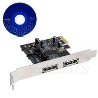 2 SATA 2 eSATA 6 Gbps 3 0 a PCI-E Express adaptador de tarjeta de Control 6 Gbps convertidor venta al por mayor y Dropship